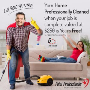 Free Professional Clean with Adelaide Painter Paint Professionals
