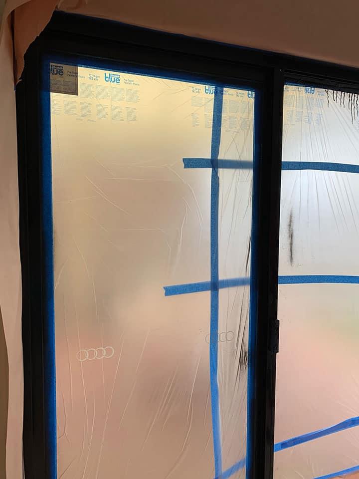 Preparation for Adelaide Aluminium Window Painting