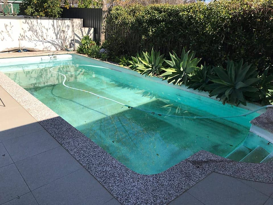 Pool Painting Adelaide Before Rejuvenation
