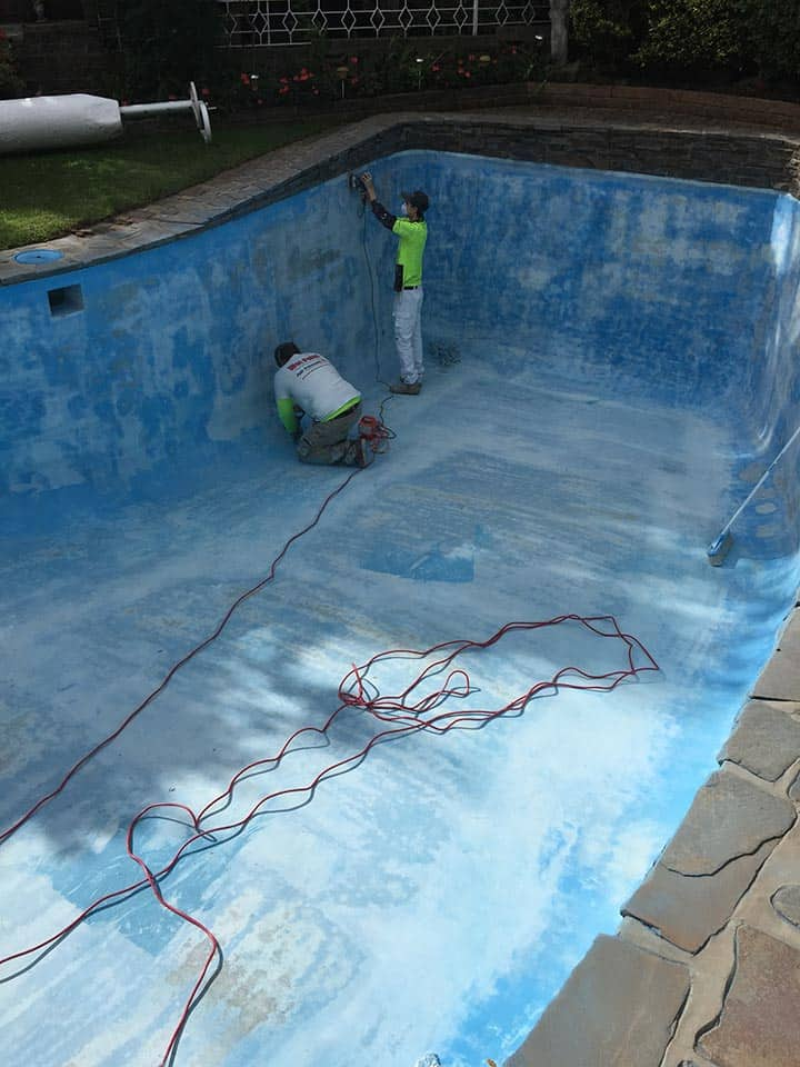 Pool Painting Adelaide Sanding and Filling