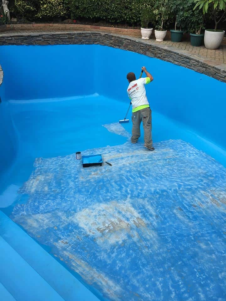 Pool Painting Adelaide Paint Professionals underway